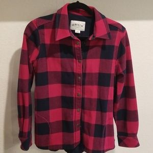 Orvis size medium checked flannel
